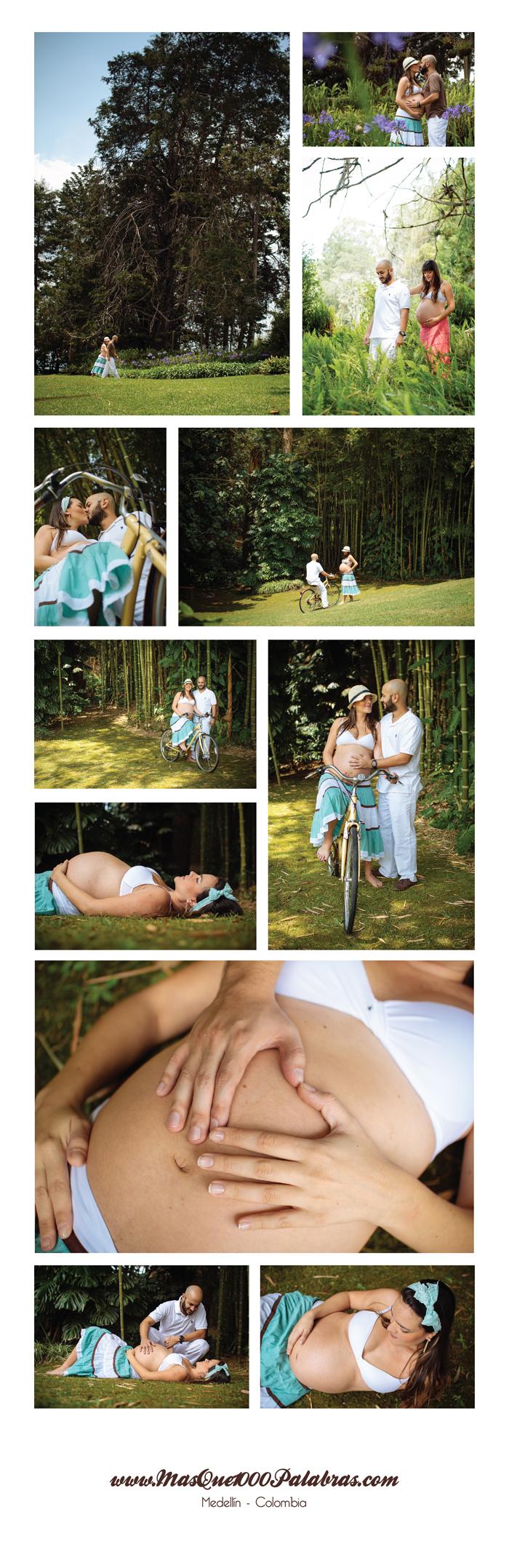collage embarazo vintage