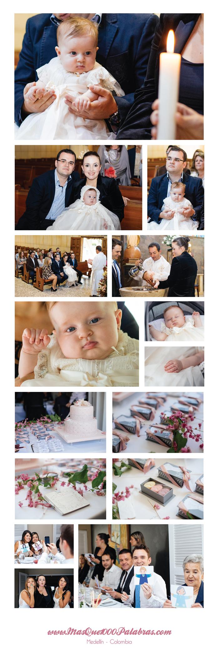 Fotos del bautizo de Mia, Medellin