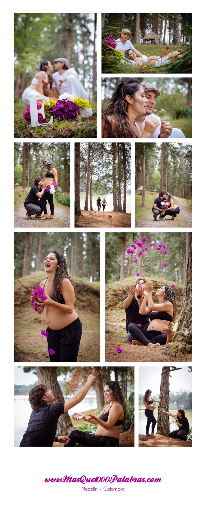 Sesion de fotos de embarazada en el parque de los salados en la represa de la fe, por mas que 1000 palabras