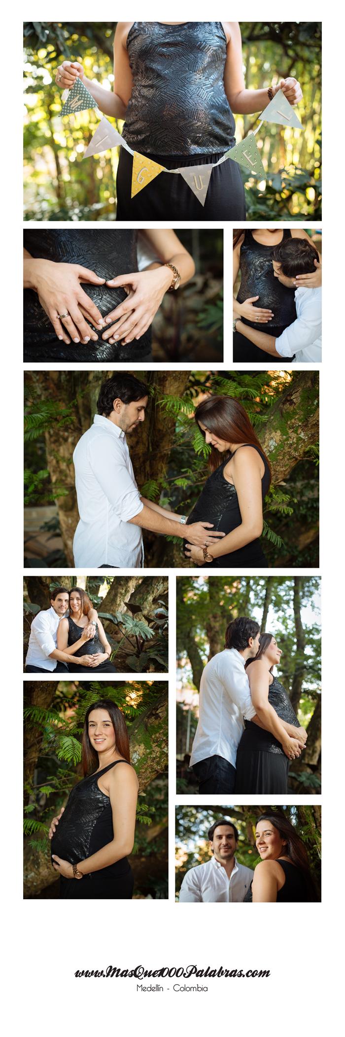 Sesion de fotos de embarazo en Medellín
